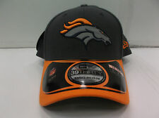 Denver Broncos Cap New Era 39Thirty Stretch Fit Thanksgiving Gray Hat NFL