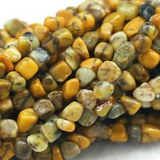 """Wholesale Natural Genuine Yellow Moss Agate Nugget Loose Beads Free Form 16"""""""