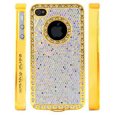 Apple iPhone 5 5S Gem Crystal Rhinestone White Shimmer Glitter case