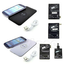 Non-slip Qi Wireless Power Charger Pad + Receiver Kit Set For Samsung S3 S5 N3