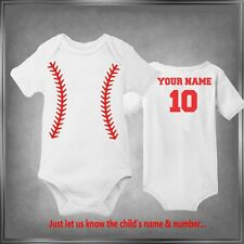 Baseball, Personalized Child Infant Lap-Snap-Tee One-Piece or T-Shirt 6 mos-4T