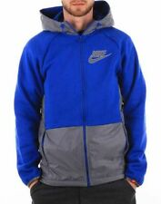 NIKE TN TRAIL FULL ZIP, MENS HOODY, FLEECE HOODED TOP BLUE, HOODIE UK S to XL