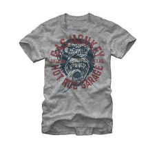 Gas Monkey Garage Hot Rod Dallas TX Logo Licensed NWT Adult T-Shirt - Grey