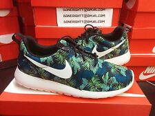 Nike Roshe Run Space Blue Green Aloha Palm Tree Floral Flyknit Tech Fleece Camo