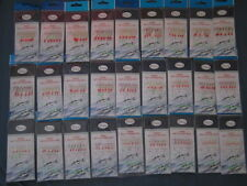 10 packages of RODTEK Sabiki rigs U CHOOSE size 1/0,1,2,4,6,8,10,12,14