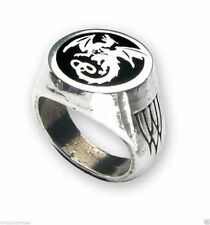 NEW - Alchemy Wyverex Dragon Signet Pewter Ring - R154 Alchemy Gothic