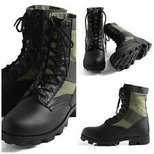 """JUNGLE BOOTS 8"""" GI STYLE OLIVE DRAB  SIZES 1 -13 REGULAR, 5 - 13 WIDE R5080 New!"""