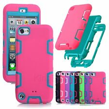 Rugged High Impact Heavy Duty Hybrid Shockproof Armor Case For iPod Touch 4 5