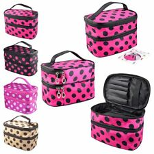 Travel Toiletry Wash Organizer Case Cosmetic MakeUp Dot Bag Holder Purse Tidy