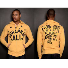 Roots of Fight Ali Float Quote Zip-Up Hoodie - Yellow