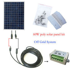 40W/50W/60W OFF GRID COMPLETEKIT:poly solar panel for 12V System Cabin RV Home