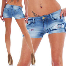 Sexy Stretch-Denim Hotpants Short kurze Hose Hot Pants Shorts Panty jeans 5 Gr.
