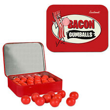 NEW NOVELTY GUMBALLS COLLECTIBLE TIN WASABI PASTE AND BACON FLAVORED GAG GIFT