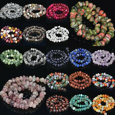 "Natural Gemstone 6mm-13mm Freeform Rondelle Nugget Loose Beads 7.5"" Pick"