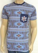 Neff Zebrajo Native Pocket Tee Mens Blue Cotton Blend T-Shirt New NWT