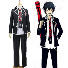 Ao no Exorcist Blue Exorcist Rin Okumura Anime Cosplay Costume Uniform Full Set
