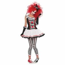 Sexy Petite Harley Quinn Ladies Clown Fancy Dress Costume Carnival Circus Womens