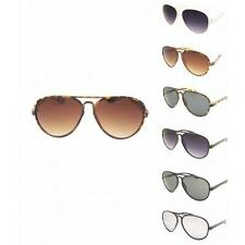 Plastic Aviator Sunglasses Classic Cop Style Frame Retro Men Womens 70s UV400