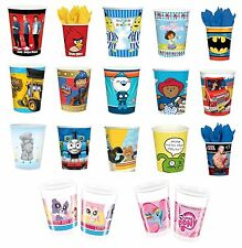 8 PARTY CUPS - Range of LICENSED CHARACTER DESIGNS (Birthday Supplies){Set1}
