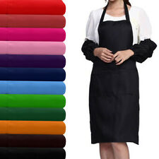 Chefs restaurant Kitchen BIB Cooking Craft Commercial Aprons With Two Pockets