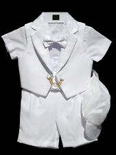 Boys Infant Toddler Christening Baptism Outfit, White,Sz: S, M, L, XL, 2T,3T,4T