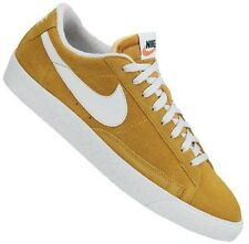 NIKE MENS TRAINERS, SHOES, BLAZER LOW PREMIUM VINTAGE SUED UK 6 to 9.5 GOLD