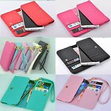 luxury Wallet Card Cover Case with wrist For XOLO smartphone windows phone