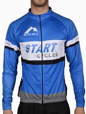 More Mile Mens Start Cycles Team Long Sleeve Cycle Cycling Bike Jersey