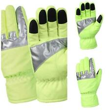 NEW! Rothco Safety Green Gloves With Reflective Tape; Small - XLarge R5487