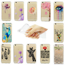 Ultra Thin Fashion Pattern Transparent Soft Phone Case Cover For Iphone 5S/5C 6