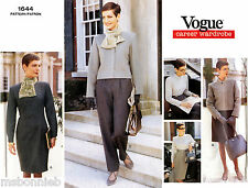 Vogue 1644 Jacket, Dress, Top, Skirt, Pants Scarf Career Wardrobe Sewing Pattern