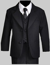 Boy Recital, Wedding, Graduation Formal Suit Set,  Black, Size: Medium to 14