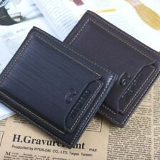 Men's Leather Wallet Card Clutch Bifold Purse Money Clip Card Holder Gifts J14