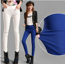 fashion Women's High Waist Slim Trousers Stretch Skinny Leggings Pencil Pants
