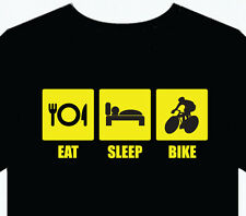 "Mens T-Shirt ""cycle racing"" funny gift top fun bicycle track bike sport"