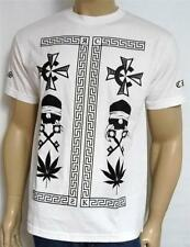 Crooks & Castles Grecian Chain Symbols Graphic Tee Mens White T-Shirt New NWT