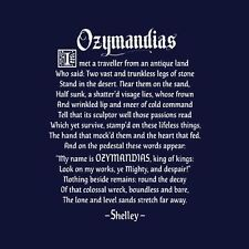 New Percy Blythe Shelley OZYMANDIAS Shirt, Mens & Womens, Bad Breaking Poetry