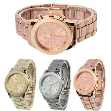 New Geneva Ladies Women Girl Unisex Stainless Steel Quartz Wrist Watch