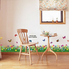 Removable Grass Flower Butterfly Pattern Art Decal DIY Decor Home Wall Sticker