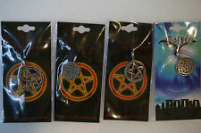 Pentagram Pentacle Pendant Necklace pewter Fantasy Wiccan pagan witch Celtic