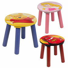 1, 2, 3, 4 x Kids Disney Comfortable Sitting Stools Wooden Solid Chair Children
