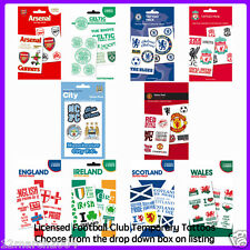 Official Licensed Football Club Temporary Tattoos