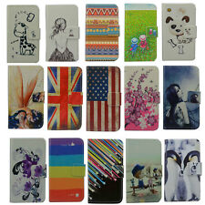 Wallet Card DELUXE leather cartoon cute case Cover For Alcatel Smartphone