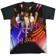 Def Leppard On Stage Licensed Sublimation Black Back Adult Shirt S-3XL