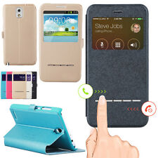 PU Leather Window-View Flip Case Cover Skin for Samsung Galaxy S5/S3/S4 Note 2/3