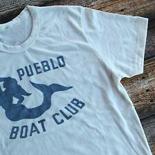Vtg 50s 60s Repro Mermaid T-Shirt Pueblo Boat Club TriBlend Ivory Pick Size