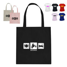Motocross Rider Gift Cotton Tote Bag Daily Cycle Motocross D2