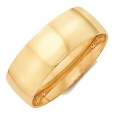 8mm 10K Yellow Gold Comfort Fit or Half Round Wedding Ring Band Size 6 - 14