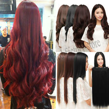 Mega Thick 28 Colors Shade 3/4 Full Head Clip In Hair Extensions Brown Black 1st