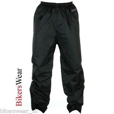 Spada 911 Black Textile Waterproof Motorcycle Over Trousers
